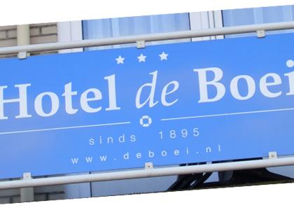 Bouwbord hotel de Boei