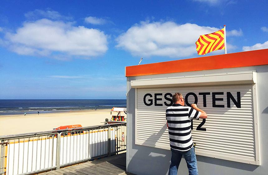 Buitenreclame door Echo Reclame Reddingsbrigade Egmond aan Zee