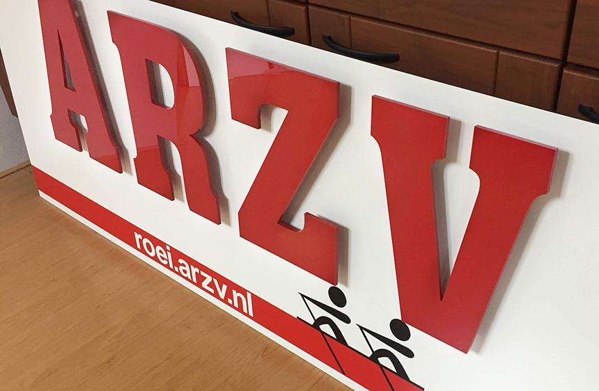 Alkmaarsche Roei- en Zeil Vereniging ARZV bord klaar