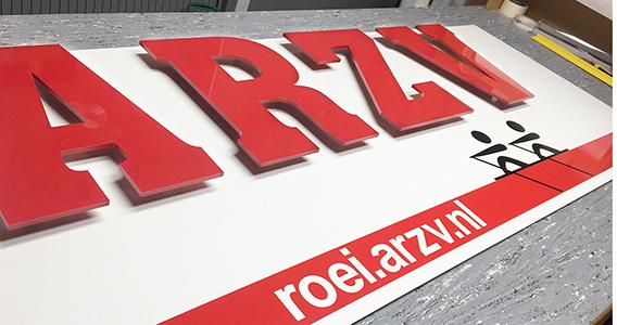 ARZV reclamebord reclameconstructies