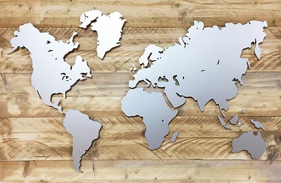 Wereldkaart Echo Reclame ontwerp gerealiseerd